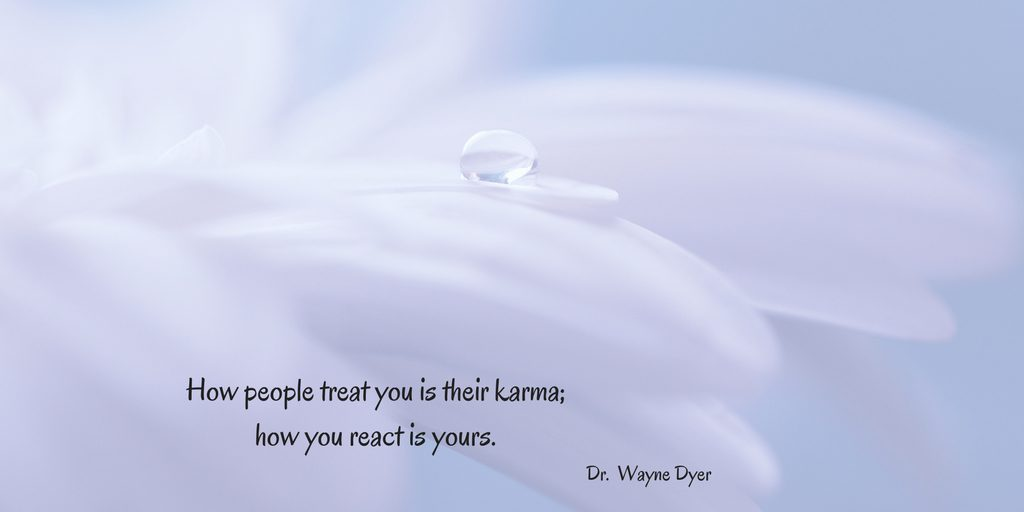 Karma, treat others. healing, intention, meditation